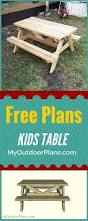 Plans Making A Wooden Picnic Table by The 25 Best Kids Wooden Picnic Table Ideas On Pinterest Wooden