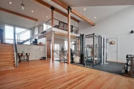 Flooring For Open Floor Plans Home Gym Lighting Home Gym Contemporary With Wood Flooring Exposed