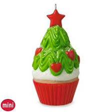 tasty tannenbaum mini tree cupcake ornament keepsake