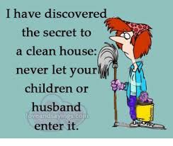 Clean House Meme - i have discovered the secret to a clean house never let your