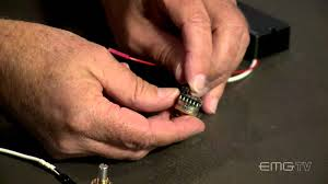 emg solderless volume and passive tone control install youtube