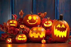 Lighted Halloween Buckets Halloween Pumpkin Decorations Decoration Ideas Entrancing Picture