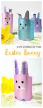 easy cardboard tube easter bunny craft arty crafty kids