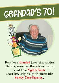 grandad birthday personalised cards