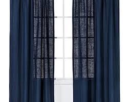navy burlap curtains etsy