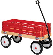 radio flyer 24 town and country wagon w removable wooden side panels