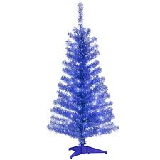 national tree company 4 ft blue tinsel artificial tree