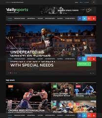 sports website templates u2013 new sports themes every month