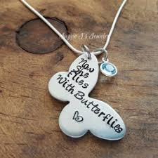 Personalized Memorial Necklace Now She Flies With Butterflies From Jazzie J U0027s Jewelry Jazzie