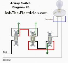 3way and 4way switch wiring diagram