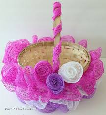Diy Easter Basket Ruffled Mesh Easter Basket Diy Hometalk