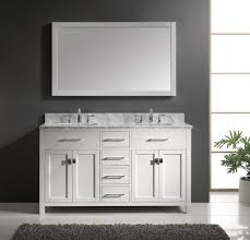 gray stained wall floating mirror 48 inch double sink bathroom