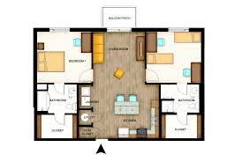 2 bedroom floorplans housing and residence floor plans wichita state