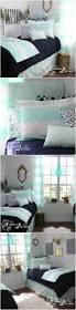 mint u0026 navy wide stripe designer teen u0026 dorm room bedding set