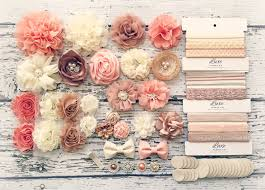 How To Make Floral Arrangements Step By Step Diy Baby Headband Making Kit Peach Beige Ivory Champagne