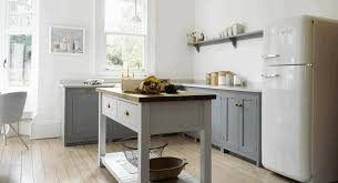 kitchen design open shelves sleek black wooden counter smooth