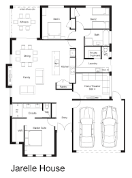4 Bedroom Home Floor Plans 4 Bedroom 2 Bathroom House Plans Australia House And Home Design