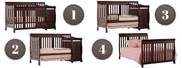 Convertible 4 In 1 Cribs Stork Craft Portofino 4 In 1 Convertible Crib With Changer