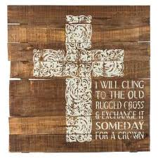 Song Lyrics Old Rugged Cross Cling To The Old Rugged Cross Wood Wall Decor Hobby Lobby 976647