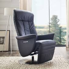 relax sessel echtleder relaxsessel novartis in schwarz elektrisch