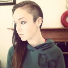 half shaved head haircuts pinterest half shaved head half