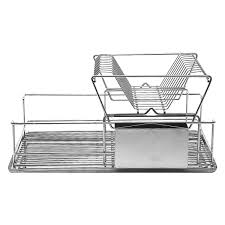 Dishes Rack Drainer Decker Stainless Steel Double Level Dish Drainer Buy Now At