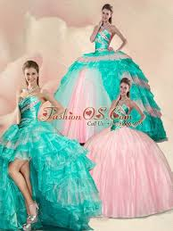 sweet fifteen dresses style beading and ruffles multi color sweet 15 quinceanera dress