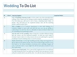wedding to do list template sample format