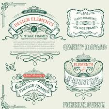 vintage ribbon vintage ribbon labels with ornaments vector 03 free vectors ui