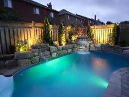 Suburban Backyard Landscaping Ideas by Swimming Pool With Hardscape And Landscape Ideas Cool Backyard