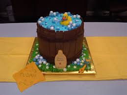 duck cake ducky baby shower cake