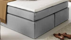 B O Schreibtisch Grau Atlanta Stoff Grau 140x200 Cm Mit Topper