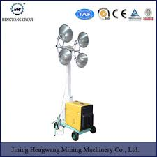 night scan light tower prices cheapest price hengwang mobile lighting tower 4 8m with metal