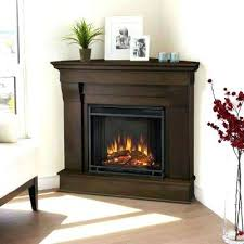 White Electric Fireplace Electric Fireplace With Real Flame Chateau In Corner Electric