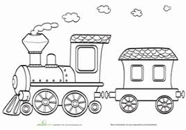 train coloring pages education
