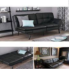 faux leather futon frame and mattress set ebay