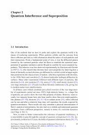 quantum interference and superposition springer