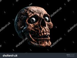 black scary halloween background human scary skull eyes locally deformed stock illustration
