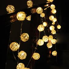 Rattan Star String Lights by 5m 20 Led Warm White Rattan Ball Led String Fairy Lights Holiday