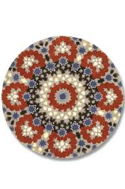 Red Patterned Rug Nomadic Blue And Red Circular Patterned Rug By I Love Retro