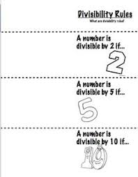 divisibility rules song math ideas pinterest divisibility