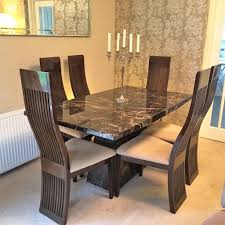 Italian Design Dining Table And  Chairs With Matching Unit In - Italian design chairs