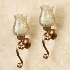 Gold Wall Sconces Armina Beaded Hurricane Gold Wall Sconce Pair Wall Sconces Gold