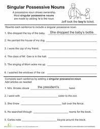 possessive pronoun worksheets free mreichert kids worksheets
