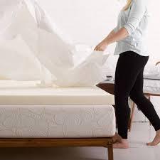 Beautyrest Gel Memory Foam Mattress Topper Authentic Comfort 4 Inch Memory Foam Mattress Topper Walmart Com