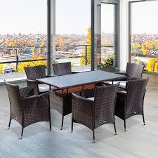 rattan 6 armchairs garden dining set u2013 ideal home show shop