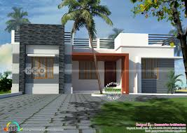 one floor flat roof home 930 sq ft kerala home design and floor