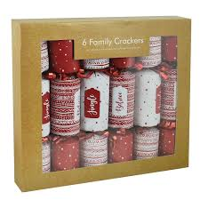 6 pack luxury mini crackers novelty family festive