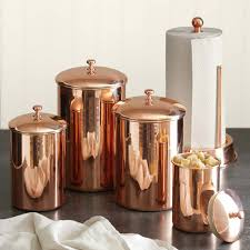 copper kitchen canisters copper canister williams sonoma
