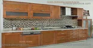 meuble de cuisine en bois massif meuble cuisine bois et zinc pour decoration cuisine moderne fraîche